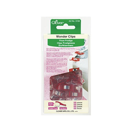 Clover Wonder Clips, Red (50 pack)