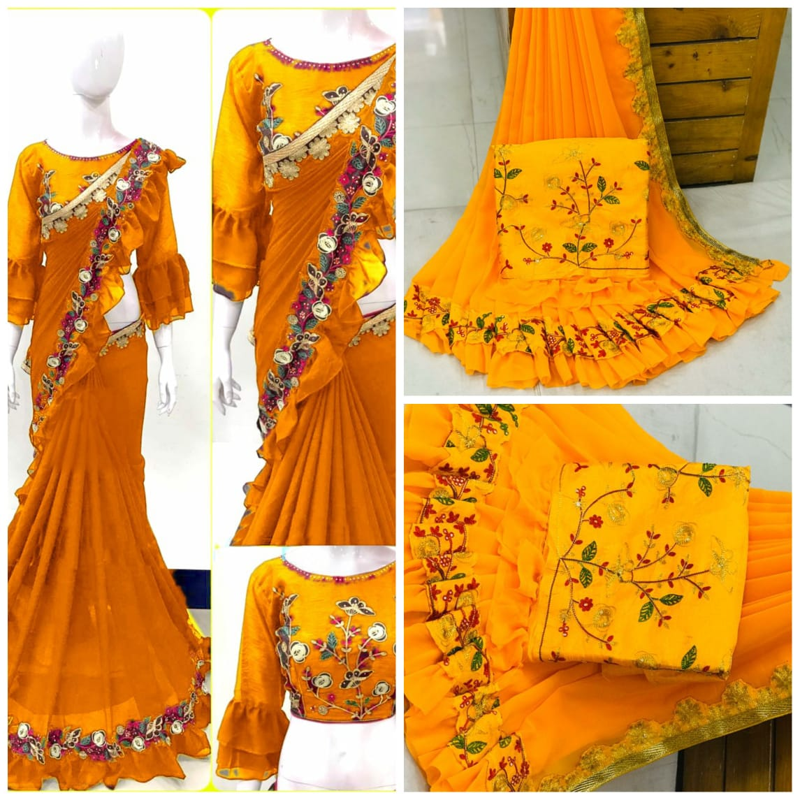 RUFFLE SAREE COLLECTION