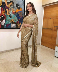 ShopLance™️ BOLLYWOOD MADHURI DIXIT PARTY WEAR SAREE