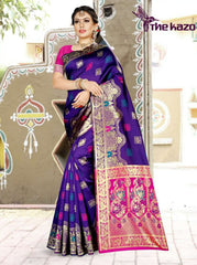 BANARASI silk with weaving zari