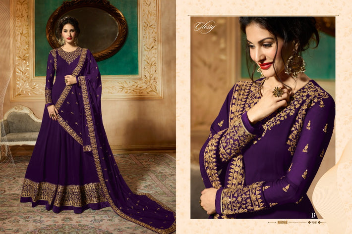 Anarkali Style Georgette work Suit