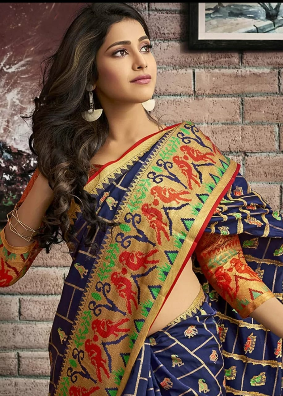ShopLance™️ Soft Banarasi silk weaving saree