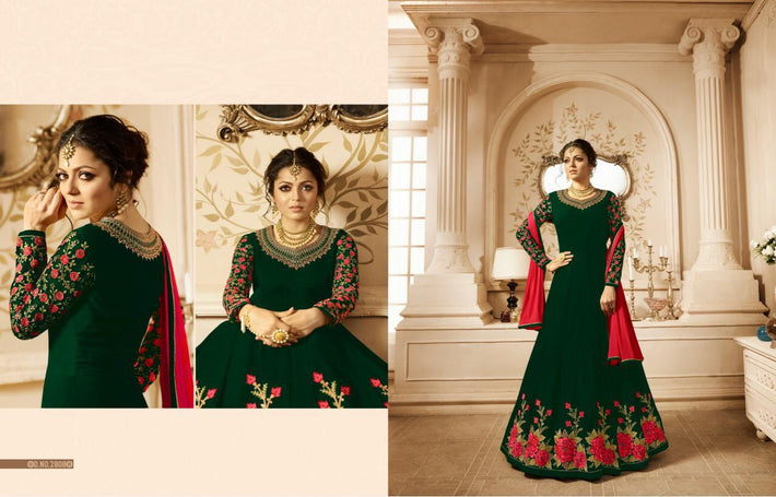 Faux Georgette Embroidery Work