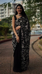 GEORGETTE WITH EMBROIDERY WORK SAREE