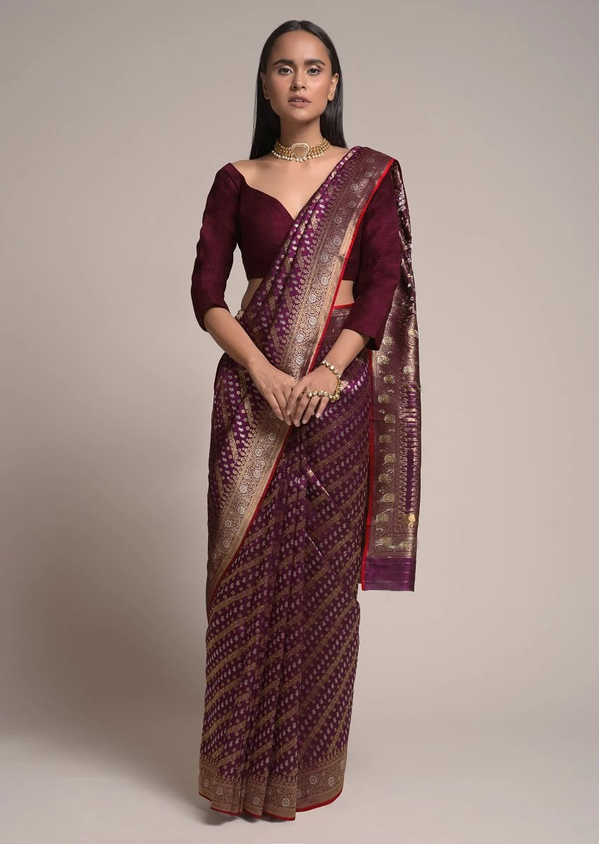 BEAUTIFUL SOFT LICHI SILK SAREE