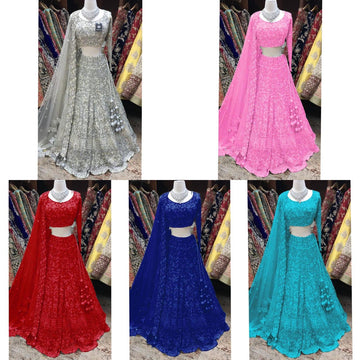 NEW FANCY EMBROIDERY WORK LEHENGA CHOLI WITH DUPATTA