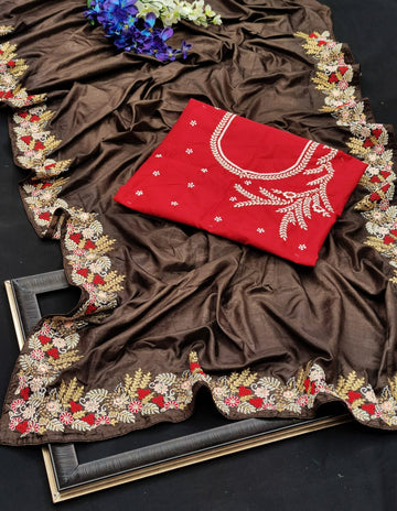 Rajwadi silk Saree
