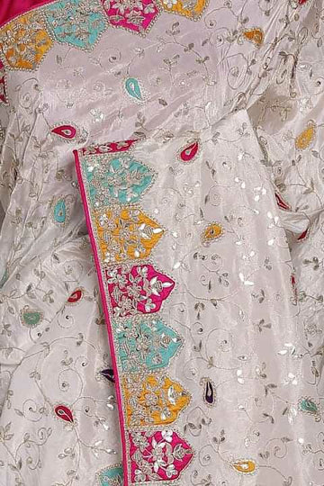 Zardosi Sequence  Embroidery work saree