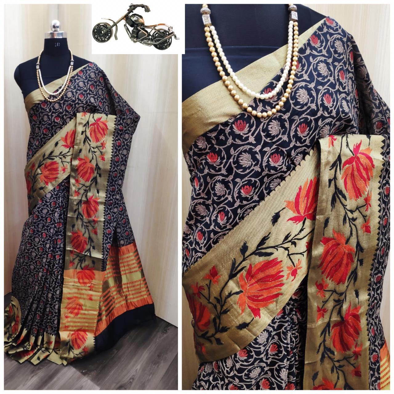 Sunrise Soft Cotton Silk Saree