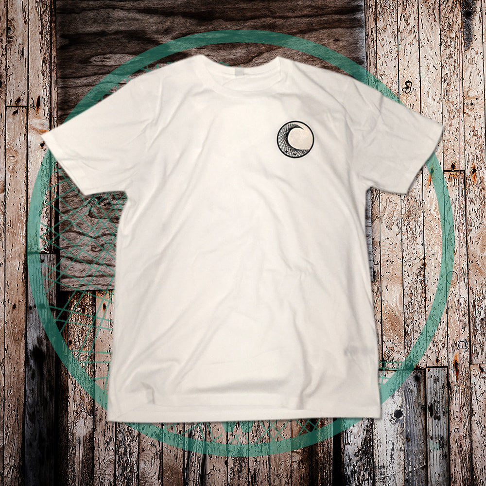 White Classic Eco Friendly T - NWC front Logo and Back Print