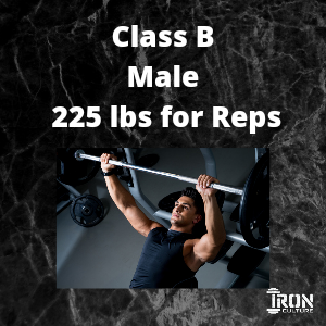 Bench Press Class B Male - Iron Culture Merchandise