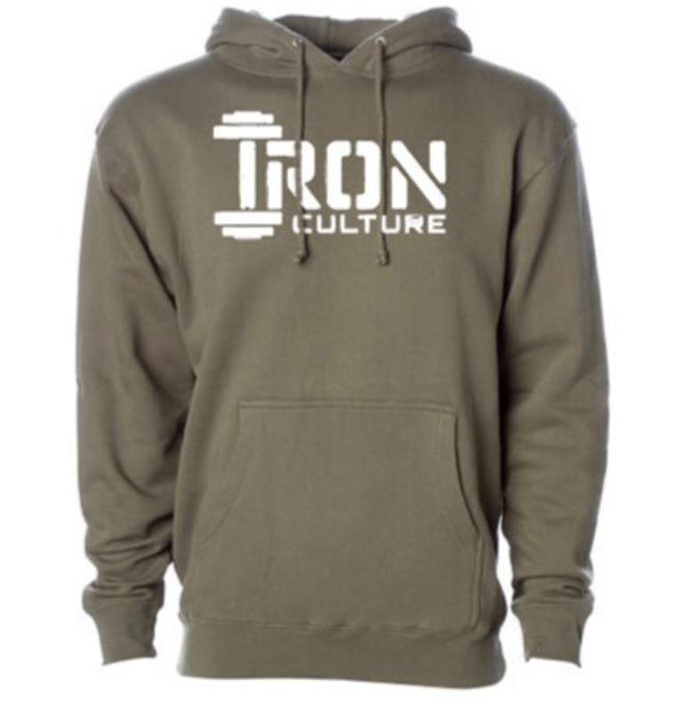 Army Green Hoodie - Iron Culture Merchandise