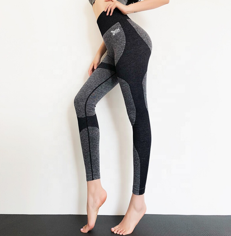 Seamless Squat Proof Leggings Black