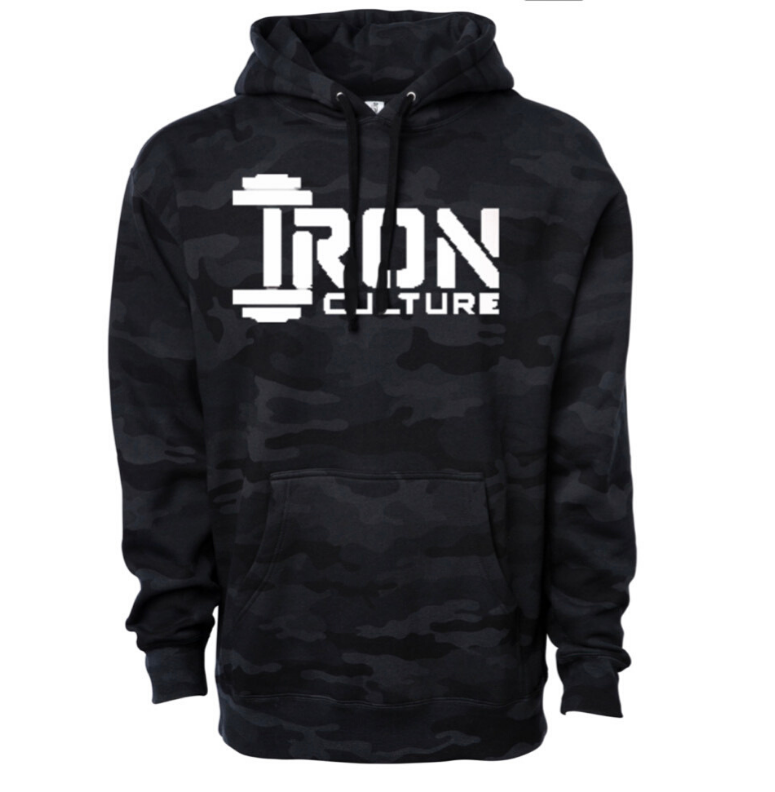 Black Camo Hoodie - Iron Culture Merchandise