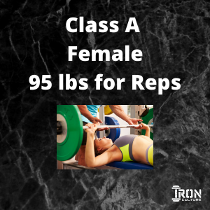 Bench Press Class A Female - Iron Culture Merchandise