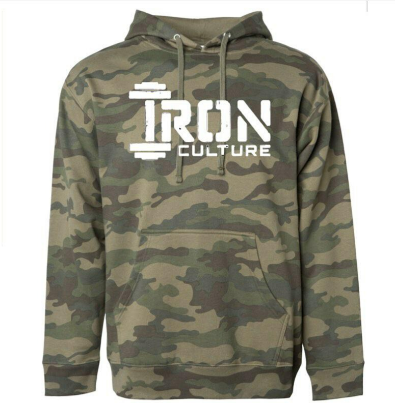 Green Camo Hoodie - Iron Culture Merchandise