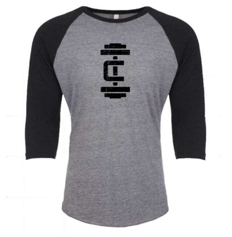 Unisex 3/4 Sleeve T Grey - Iron Culture Merchandise