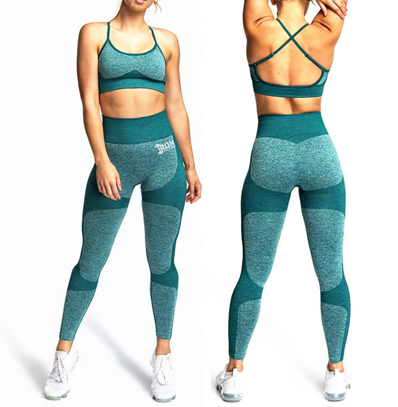 Seamless Squat Proof Leggings Teal