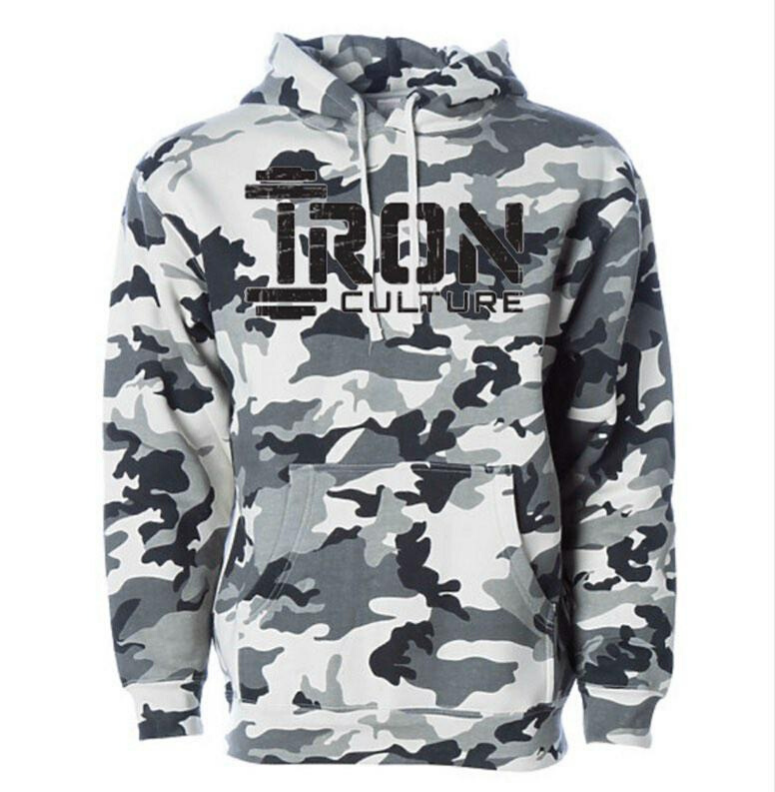 White Camo Hoodie - Iron Culture Merchandise