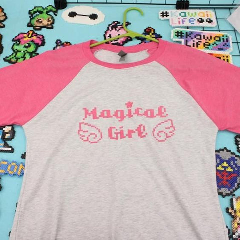 Magical Girl Baseball Raglan Tee