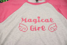 Load image into Gallery viewer, Magical Girl Baseball Raglan Tee