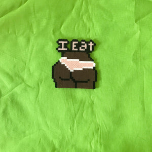 I Eat Booty Key Chain And Necklace