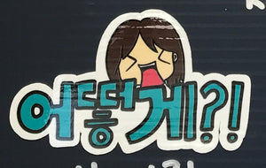 Korean HOW?! Sticker