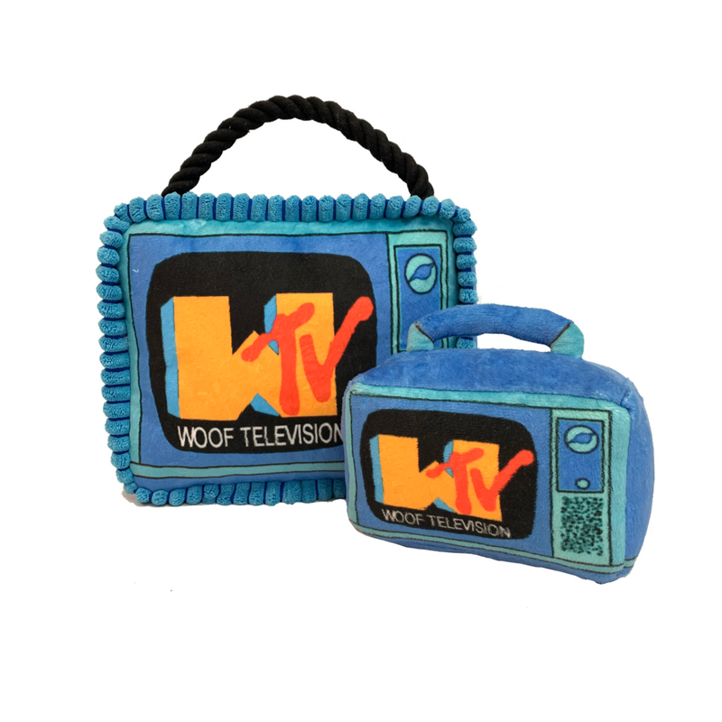 WOOF TV TUG PLUSH TV | LARGE |