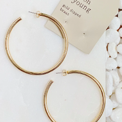 Jade Shiny Hoops