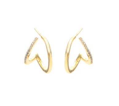 Perspective Double Wrap Gold Earrings