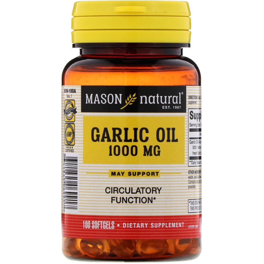 Garlic Oil, 1000 mg, 100 Softgels