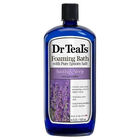 Dr Teal's Lavender Soothe & Sleep Foaming Bath with Pure Epsom Salt, 34 fl. oz