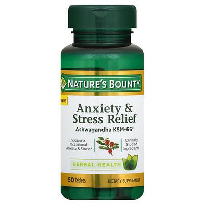 Nature's Bounty Anxiety & Stress Relief, Ashwagandha Ksm-66