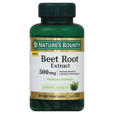 Nature's Bounty Beet Root Extract 500 mg Capsules