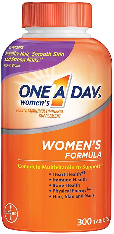 One-A-Day Women's Formula Complete Multivitamin Tablets, 300 Ct