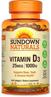 Sundown Naturals Vitamin D3 1000 IU, 400 Softgels