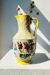 Whimsical ceramic pitcher