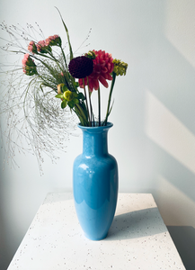 Powder blue vase | Damaged