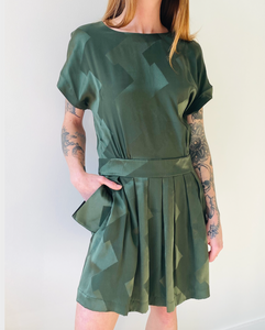 Balenciaga silk dress with pockets