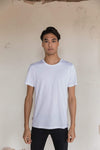 Pima Cotton T Shirt Crew Neck - Supernova White.