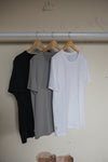 Round Neck 3-Pack (Black, Grey, White)