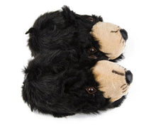Load image into Gallery viewer, Black Bear Head Slippers