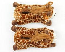 Load image into Gallery viewer, Fuzzy Giraffe Slippers
