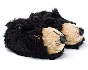 Black Bear Head Slippers