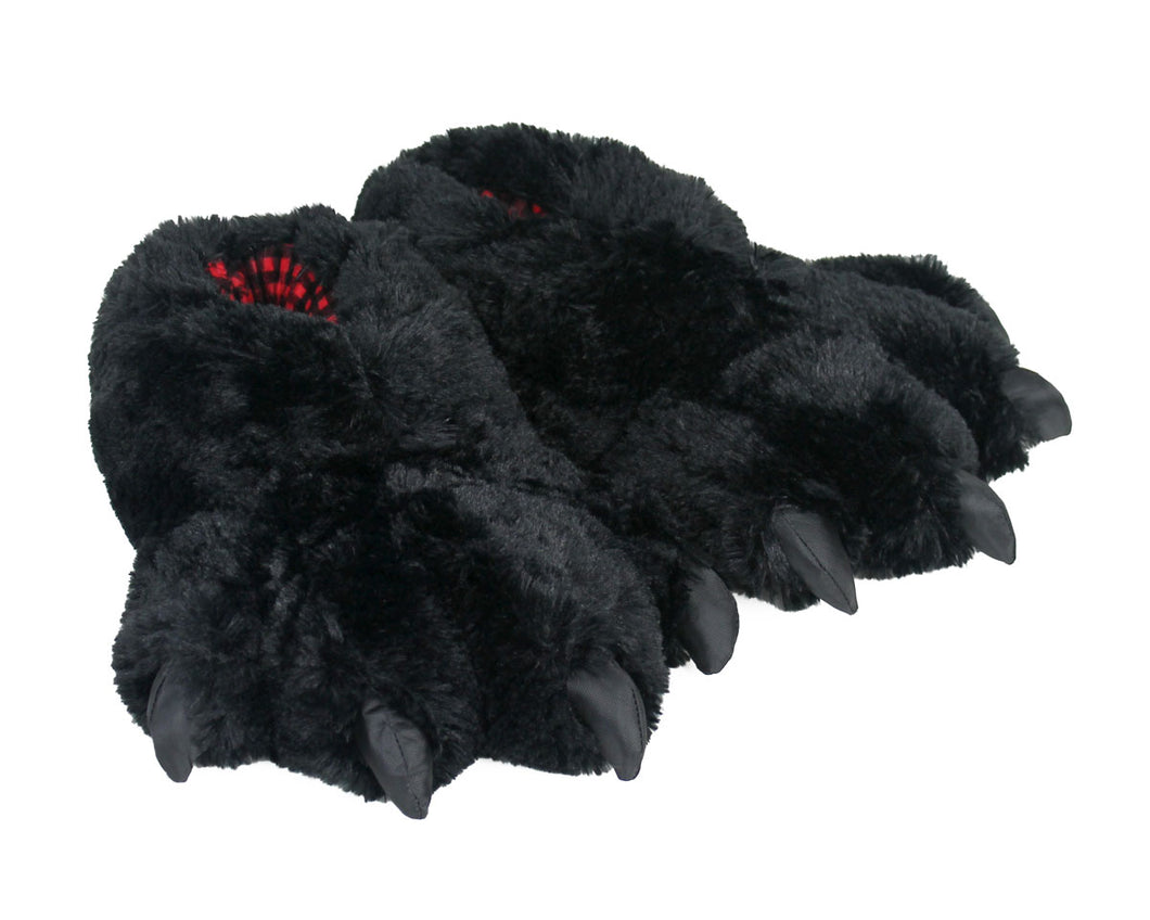 Black Bear Paw Slippers