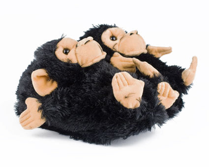 Black Monkey Slippers