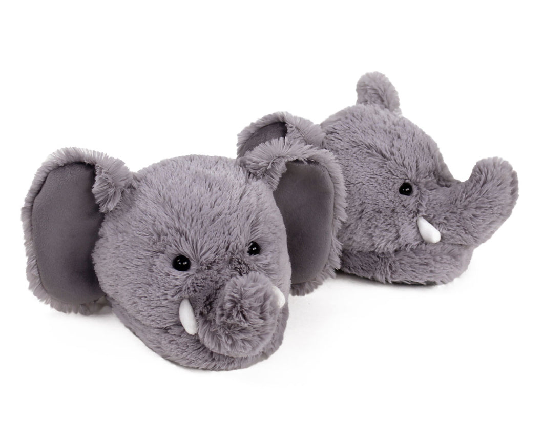 Fuzzy Elephant Slippers