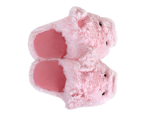 Fuzzy Pig Slippers