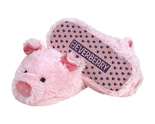 Load image into Gallery viewer, Fuzzy Pig Slippers