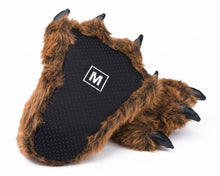Load image into Gallery viewer, Grizzly Bear Paw Slippers